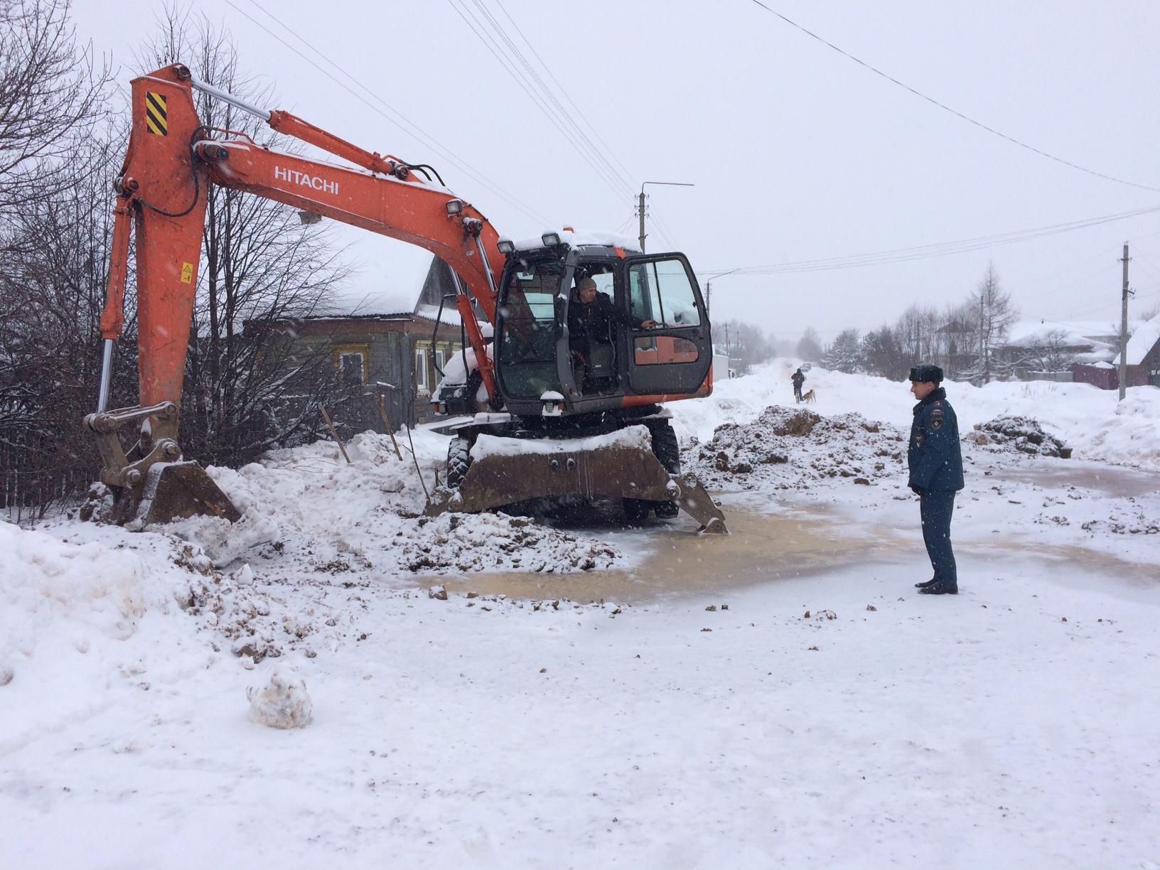 Отключение холодного водоснабжения в г. Макарьев Макарьевского района