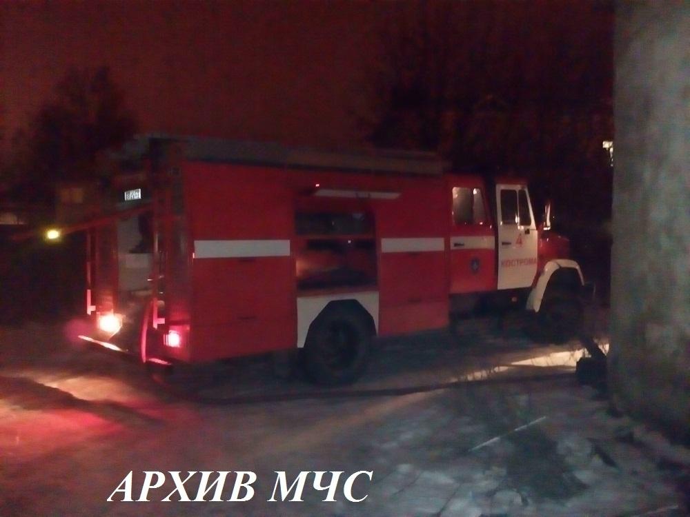 Пожар в Галичском районе локализован