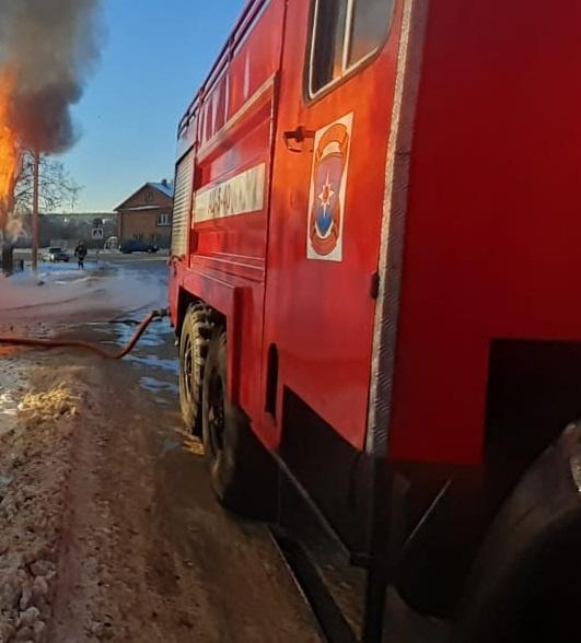 Пожар в Поназыревском районе — МЧС России по Костромской области