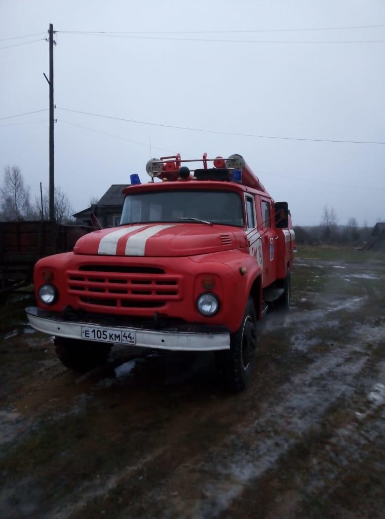 Пожар в Вохомском районе, д. Гора