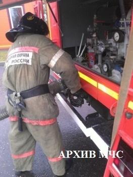 Пожар в Вохомском районе, п. Малое Раменье
