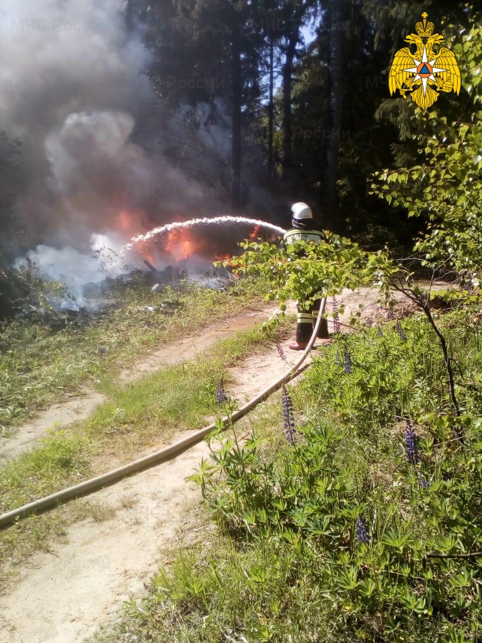 Лесной пожар в Кадыйском районе ликвидирован