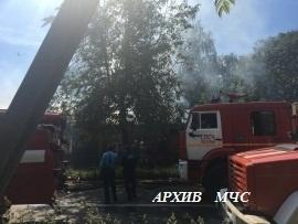 Пожар в п. Островское — МЧС России по Костромской области
